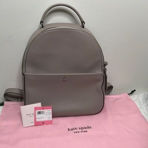 Kate Spade warm taupe medium leather backpack